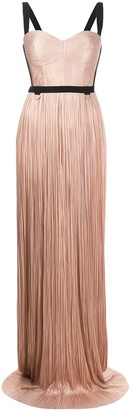 Maria Lucia Hohan Mina pleated silk gown