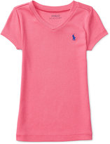 Ralph Lauren V-Neck T-Shirt, Toddler & Little Girls (2T-6X)