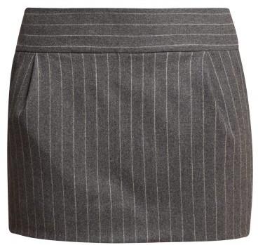 338f8e8862ec9 Pinstriped Wool Blend Mini Skirt - Womens - Grey Multi