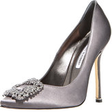 Jeweled Satin Pump