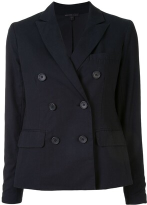 James Perse Soft Double-Breasted Blazer