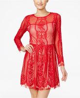 Amy Byer Juniors' Lace Fit & Flare Dress