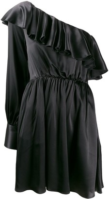 MSGM Asymmetric Ruffle Mini Dress