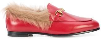 Gucci Jordaan fur lined loafers