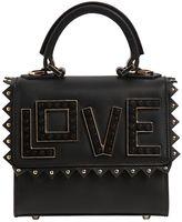 Les Petits Joueurs Micro Alex Love Leather Top Handle Bag