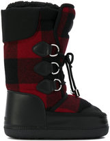 DSQUARED2 checked snow boots - women - Artificial Fur/Leather/Nylon/rubber - 36