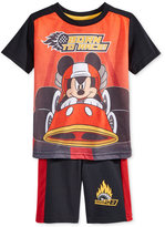 Nannette Mickey Mouse 2-Pc. T-Shirt & Shorts Set, Toddler Boys (2T-4T)