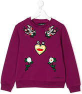 John Richmond Kids patch detail sweatshirt