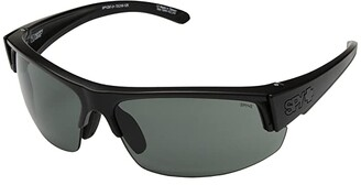 Spy Optic Sprinter (Matte Black Ansi RX/Happy Gray Green) Athletic Performance Sport Sunglasses