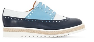 La Redoute Collections Leather Colour Block Flatform Brogues