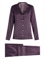 Derek Rose Brindisi 7-print silk-satin pyjama set