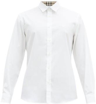 Burberry Serjeants Logo-embroidered Cotton-blend Shirt - White