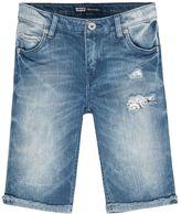 Levi's Girls 7-16 Summertime Ripped Denim Bermuda Shorts