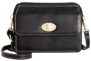 Giani Bernini Turn-lock Glazed Crossbody Wallet, Created For Macy's