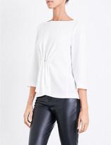 Claudie Pierlot Faux-pearl embellished crepe blouse