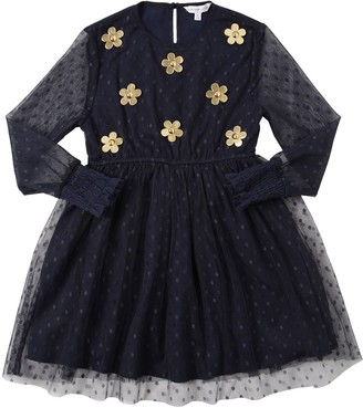 Little Marc Jacobs Techno Party Dress W/ Daisies