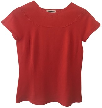 Jil Sander Red Cashmere Top for Women