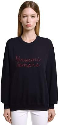 Sempre Giada Benincasa Pensami Embroidered Sweatshirt