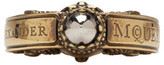 Alexander McQueen Gold Skull Engraved Ring
