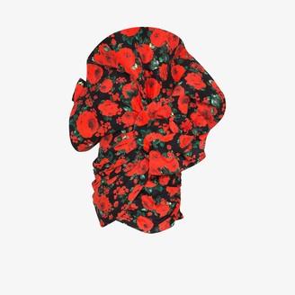 Magda Butrym Belgrade rose print silk mini dress
