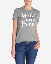 Eddie Bauer Women's Graphic T-Shirt - Wild and Free