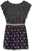 Gap Floral flutter shimmer dress