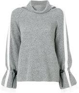 Sacai drawstring sleeve sweater