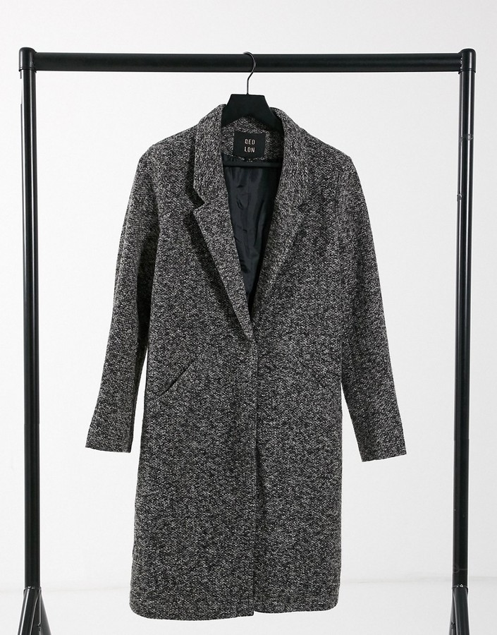 Thumbnail for your product : Qed London formal coat in gray