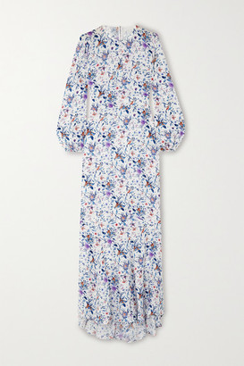 Fleur Du Mal Floral-print Silk-georgette Maxi Dress - White