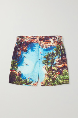 Orlebar Brown Kids - Russell Printed Swim Shorts - Blue