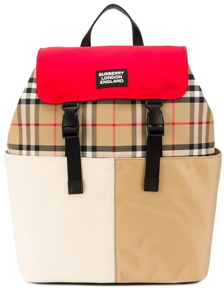 Burberry signature plaid backpack