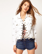 Current/Elliott Current/Elliot Star Print Denim Jacket