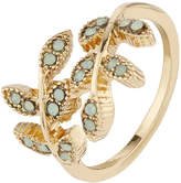 Accessorize Open Leaf Ring