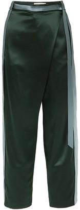 Dion Lee Striped Silk-satin Wide-leg Pants