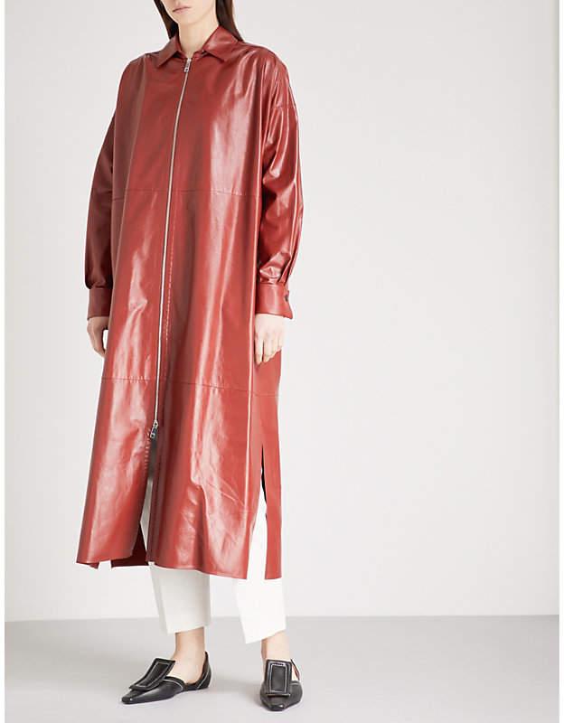 Jil Sander Zip-detail leather coat