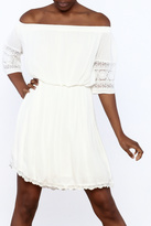 Paper Crane Ivory Off Shoulder Dress
