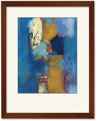 Courtside Market Wall Decor Abstract Blue & Tan Gallery Collection Framed Art