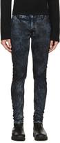 Diet Butcher Slim Skin Blue & Black Mottled Jeans