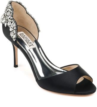 Badgley Mischka Celeste d'Orsay Satin Cocktail Sandals