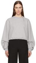 3.1 Phillip Lim Grey Pierced Sleeve Sweatshirt