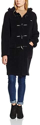 Gloverall Women's Classic Duffle Coat, (Black)