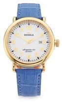 Shinola Runwell Goldtone Stainless Steel & Alligator Strap Watch