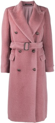 Tagliatore Textured Double-Breasted Coat