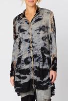 XCVI Tie Dye Velvet Accented Jacket