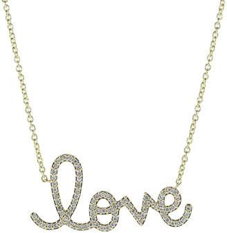 Sydney Evan Big Love Script Necklace