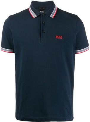 HUGO BOSS Striped Trim Polo Shirt