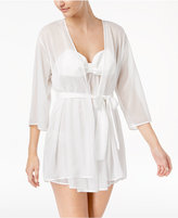 Kate Spade Bow-Back Dotted Jacquard Wrap Robe