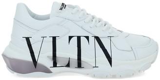 Valentino Vltn Bounce Sneaker In Calfskin Leather