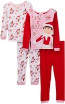 AME Elf on the Shelf Let It Snow Cotton PJs - Set of 2 (Little Girl & Big Girls)