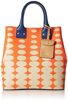 Orla Kiely Oval Printed Leather Willow Bag